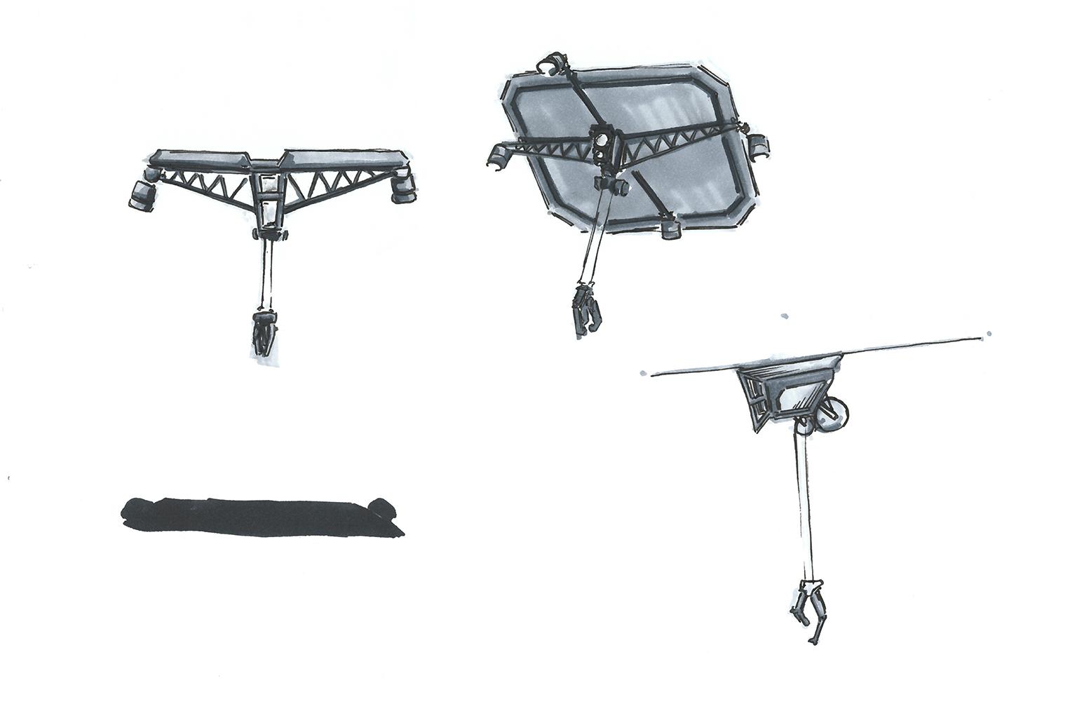 marker sketch of drones